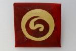 Surface-gilt parchment pin