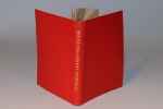 A copy of Much Ado About Nothing, bound in red limp leather