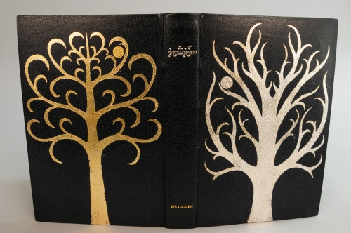 My binding of the Silmarillion, showing both boards